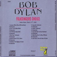 Purchase Bob Dylan - Folksinger's Choice