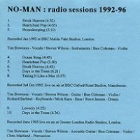 Purchase No-Man - Radio Sessions 1992-96