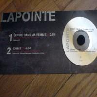 Purchase Eric Lapointe - Écrire Dans Ma Femme CDS