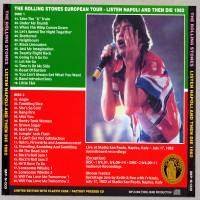 Purchase The Rolling Stones - Listen Napoli and then die 1982 CD2