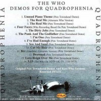 Purchase The Who - Demos For Quadrophenia Bootleg