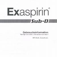 Purchase Sub - D - EXaspirin