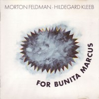 Purchase Morton Feldman - For Bunita Marcus
