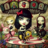 Purchase Jack Off Jill - Clear Hearts Grey Flowers