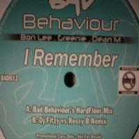 Purchase Bad Behaviour - I Remember (BAD012) Vinyl