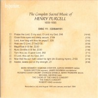 Purchase Henry Purcell - The Complete Anthems And Services Vol. 11