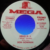 Purchase Don Bowman - Hello D.J. (VLS)