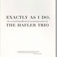 Purchase The Hafler Trio - Exactly As I Do CD1